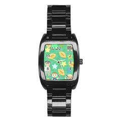 Football Kids Children Pattern Stainless Steel Barrel Watch by Nexatart