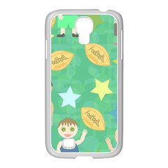 Football Kids Children Pattern Samsung Galaxy S4 I9500/ I9505 Case (white) by Nexatart