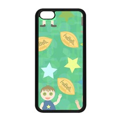 Football Kids Children Pattern Apple Iphone 5c Seamless Case (black) by Nexatart