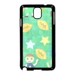 Football Kids Children Pattern Samsung Galaxy Note 3 Neo Hardshell Case (black) by Nexatart