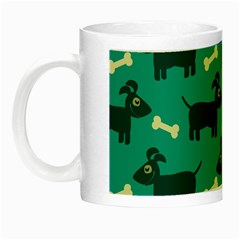 Happy Dogs Animals Pattern Night Luminous Mugs by Nexatart