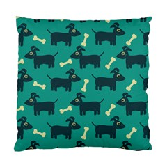 Happy Dogs Animals Pattern Standard Cushion Case (two Sides) by Nexatart