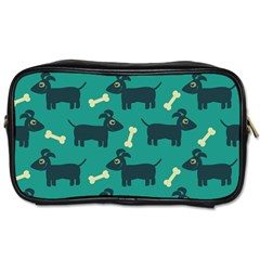 Happy Dogs Animals Pattern Toiletries Bags 2 Side by Nexatart