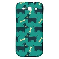 Happy Dogs Animals Pattern Samsung Galaxy S3 S Iii Classic Hardshell Back Case by Nexatart