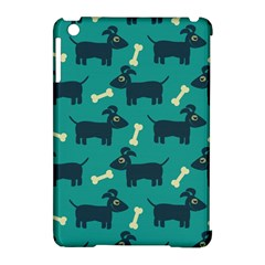 Happy Dogs Animals Pattern Apple Ipad Mini Hardshell Case (compatible With Smart Cover) by Nexatart