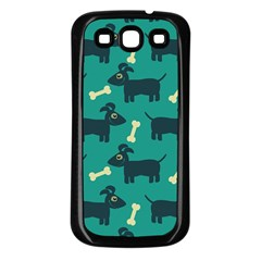 Happy Dogs Animals Pattern Samsung Galaxy S3 Back Case (black)