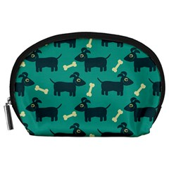 Happy Dogs Animals Pattern Accessory Pouches (large)  by Nexatart
