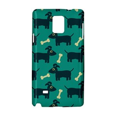 Happy Dogs Animals Pattern Samsung Galaxy Note 4 Hardshell Case