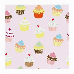 Seamless Cupcakes Wallpaper Pattern Background Medium Glasses Cloth (2 Side)