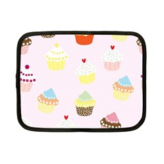 Seamless Cupcakes Wallpaper Pattern Background Netbook Case (small)  by Nexatart