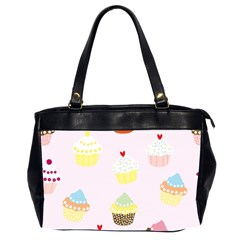 Seamless Cupcakes Wallpaper Pattern Background Office Handbags (2 Sides)  by Nexatart