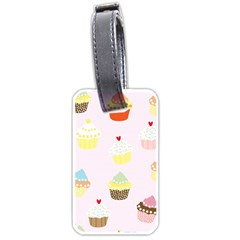 Seamless Cupcakes Wallpaper Pattern Background Luggage Tags (one Side)