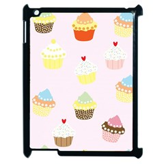 Seamless Cupcakes Wallpaper Pattern Background Apple Ipad 2 Case (black)