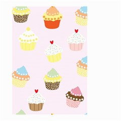 Seamless Cupcakes Wallpaper Pattern Background Small Garden Flag (two Sides) by Nexatart