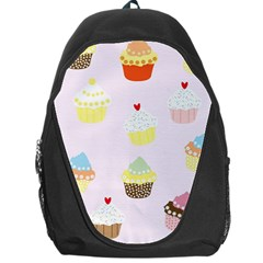 Seamless Cupcakes Wallpaper Pattern Background Backpack Bag by Nexatart