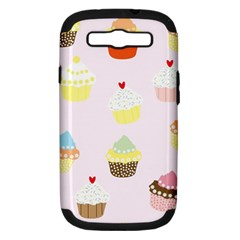 Seamless Cupcakes Wallpaper Pattern Background Samsung Galaxy S Iii Hardshell Case (pc+silicone)