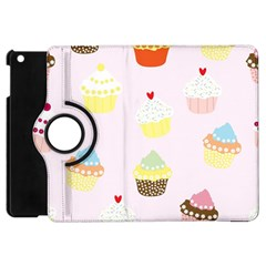 Seamless Cupcakes Wallpaper Pattern Background Apple Ipad Mini Flip 360 Case