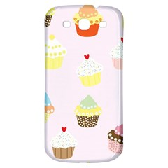 Seamless Cupcakes Wallpaper Pattern Background Samsung Galaxy S3 S Iii Classic Hardshell Back Case