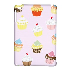 Seamless Cupcakes Wallpaper Pattern Background Apple Ipad Mini Hardshell Case (compatible With Smart Cover) by Nexatart
