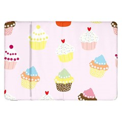 Seamless Cupcakes Wallpaper Pattern Background Samsung Galaxy Tab 8 9  P7300 Flip Case