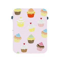 Seamless Cupcakes Wallpaper Pattern Background Apple Ipad 2/3/4 Protective Soft Cases by Nexatart