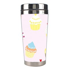Seamless Cupcakes Wallpaper Pattern Background Stainless Steel Travel Tumblers