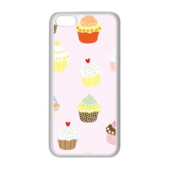 Seamless Cupcakes Wallpaper Pattern Background Apple Iphone 5c Seamless Case (white) by Nexatart