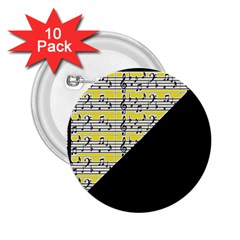 Note Abstract Paintwork 2 25  Buttons (10 Pack)