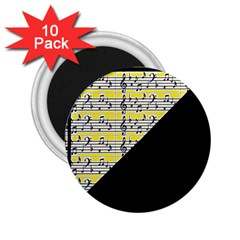 Note Abstract Paintwork 2 25  Magnets (10 Pack)