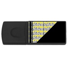 Note Abstract Paintwork Usb Flash Drive Rectangular (4 Gb)