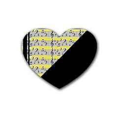 Note Abstract Paintwork Rubber Coaster (heart)