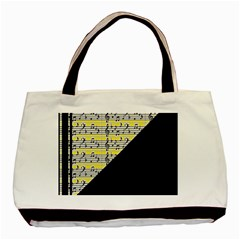 Note Abstract Paintwork Basic Tote Bag (two Sides)