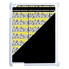 Note Abstract Paintwork Apple iPad 2 Case (White)