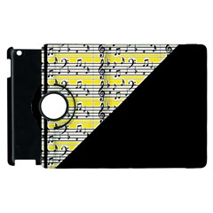 Note Abstract Paintwork Apple Ipad 2 Flip 360 Case by Nexatart