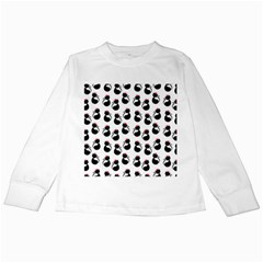 Cat Seamless Animals Pattern Kids Long Sleeve T Shirts