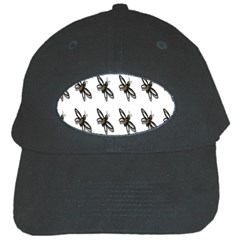 Insect Animals Pattern Black Cap by Nexatart