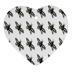 Insect Animals Pattern Ornament (heart) by Nexatart