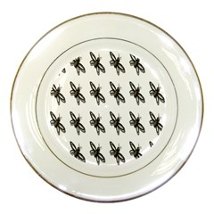 Insect Animals Pattern Porcelain Plates by Nexatart