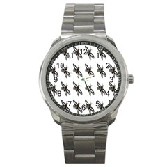 Insect Animals Pattern Sport Metal Watch by Nexatart