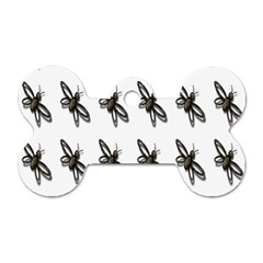 Insect Animals Pattern Dog Tag Bone (two Sides)