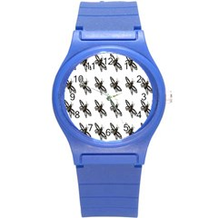 Insect Animals Pattern Round Plastic Sport Watch (s) by Nexatart