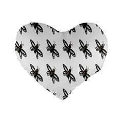 Insect Animals Pattern Standard 16  Premium Heart Shape Cushions