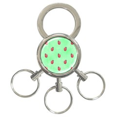 Pretty Background With A Ladybird Image 3 Ring Key Chains by Nexatart