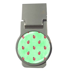 Pretty Background With A Ladybird Image Money Clips (round)  by Nexatart