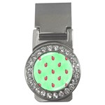 Pretty Background With A Ladybird Image Money Clips (CZ)  Front