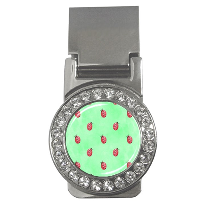 Pretty Background With A Ladybird Image Money Clips (CZ)