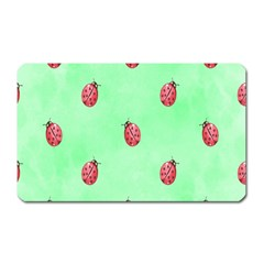 Pretty Background With A Ladybird Image Magnet (rectangular) by Nexatart