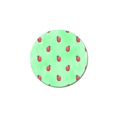 Pretty Background With A Ladybird Image Golf Ball Marker (4 Pack)