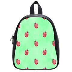 Pretty Background With A Ladybird Image School Bags (small)  by Nexatart