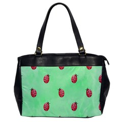 Pretty Background With A Ladybird Image Office Handbags by Nexatart
